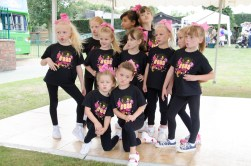 The cheerleading troupe