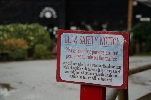 Elf and Safety notice
