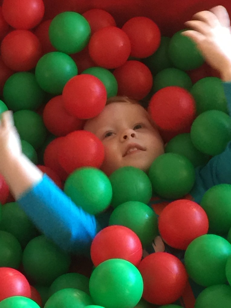 I'm covered in balls!