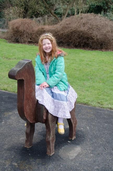Amélie on a camel