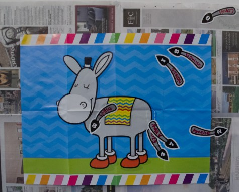 The 'pin the tail on the donkey' results