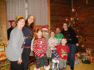 The Bagnalls with Santa