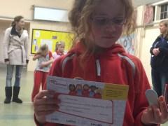 Her certificate