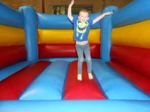 Ezra bouncing