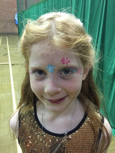Éowyn's face paint