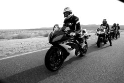 Ready, in my Alpinestars, for the braking drill. Photo by CaliPhotography.com