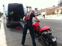 Delivering the Ducati