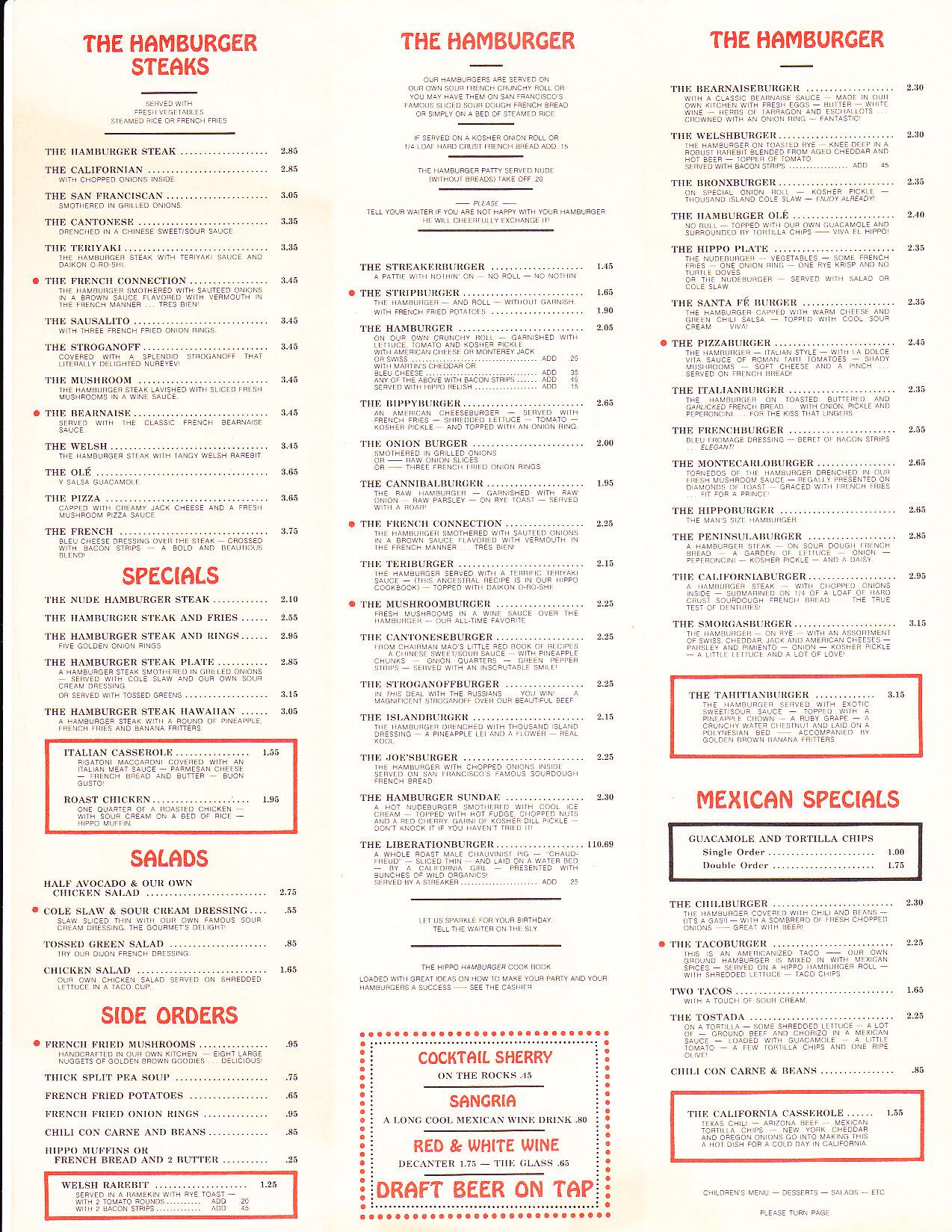 Baghdad Restaurant Menu