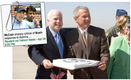 Mccain ate cake, while New Orleans drowned