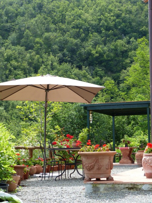 The terrace at Casa Debbio