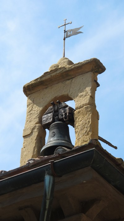 the bell on top of the church