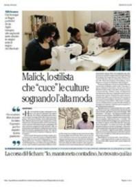 Il nostro sarto Malick nel giornale La Repubblica 26/03/15