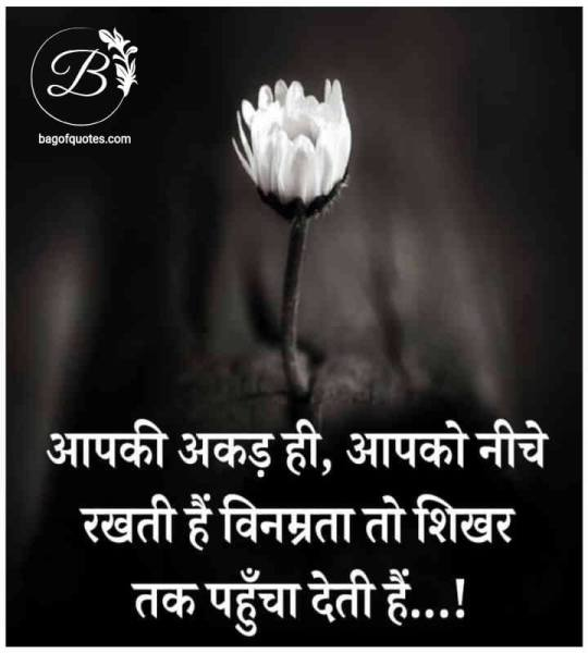 hindi motivational suvichar, इंसान का अहंकार और अकड़ ही उसके सफलता की सबसे बड़ी शत्रु होती है