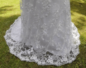 Wedding lace dress skirt