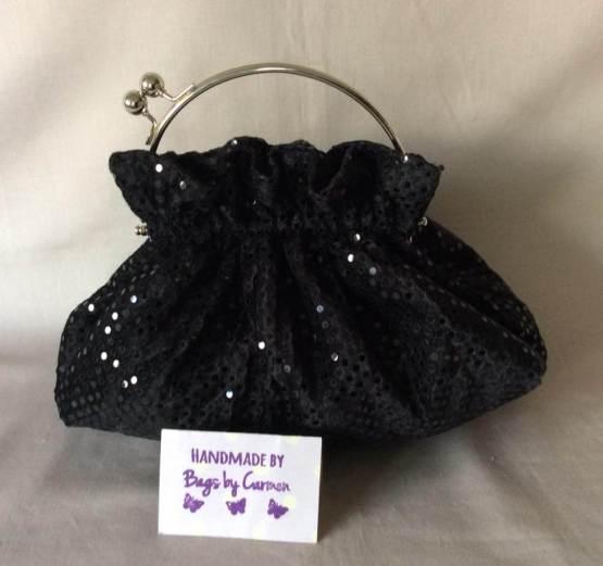 Black Sparkle Clutch Bag