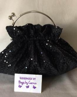 Black Sparkle Clutch Bag