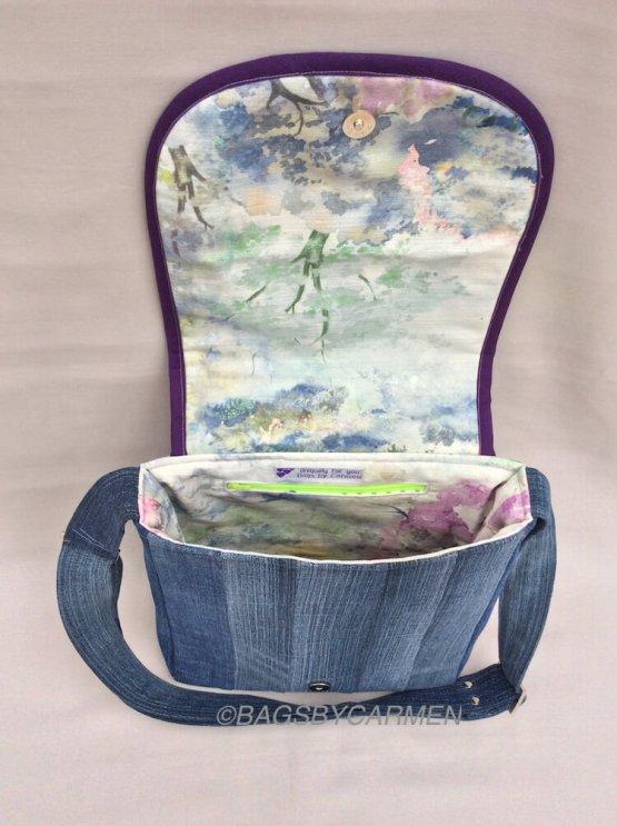 Sewing Workshop May | Logcabin Messenger Bag_Top
