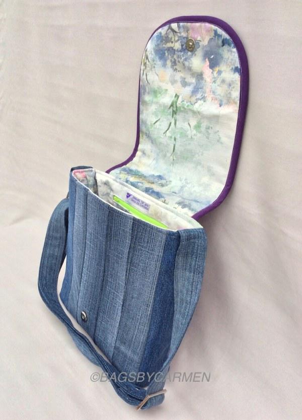 Sewing Workshop May | Logcabin Messenger Bag_Side