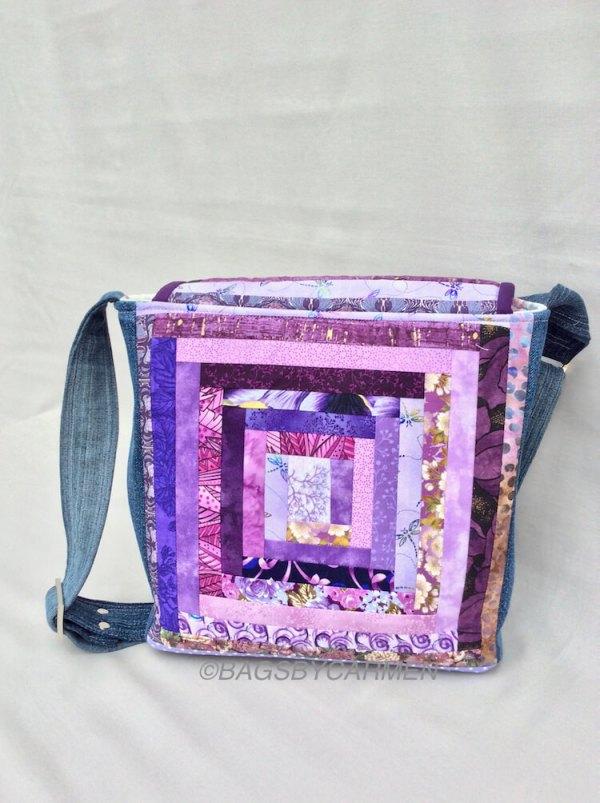 Sewing Workshop May | Logcabin Messenger Bag_Front