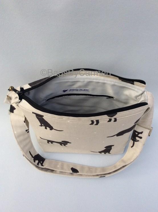 Black and White_Dog_Handmade_Shoulder Bag_Top
