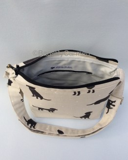 Black and White_Dog_Handmade_Shoulder Bag_Top