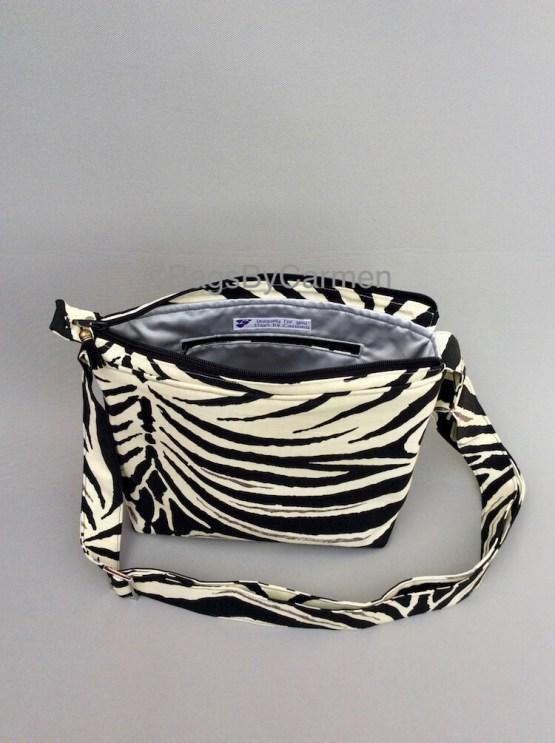 Black and White_Zebra_Handmade_Shoulder Bag_Back
