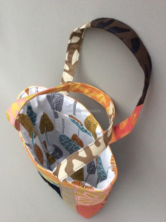 Orange Patchwork Handmade Tote Bag_Side