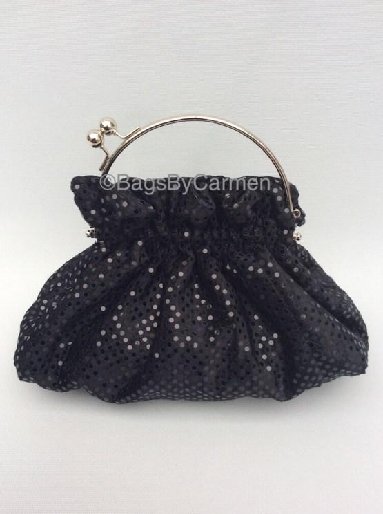 Black Sequin Handmade Evening Bag_Front