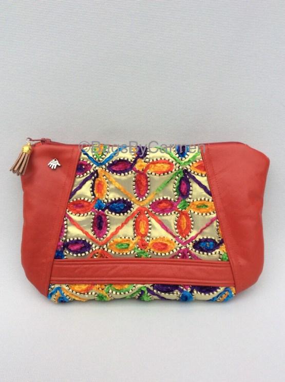 Clutch Bag Red & Gold