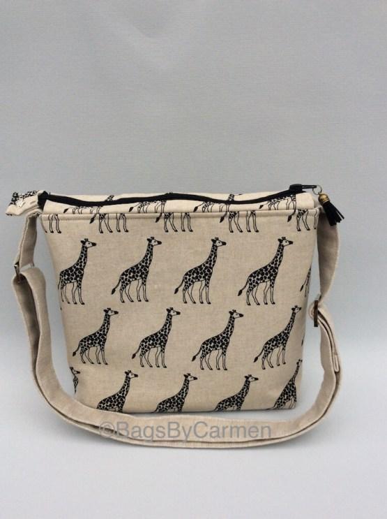 Giraffe Print Shoulder Bag_Front