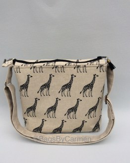 Giraffe Print Shoulder Bag_Front
