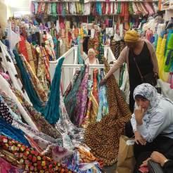 Making a wedding dress - fabric shop london goldhawk