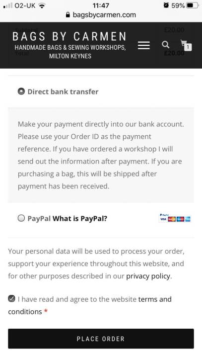 Mobile choose payment method