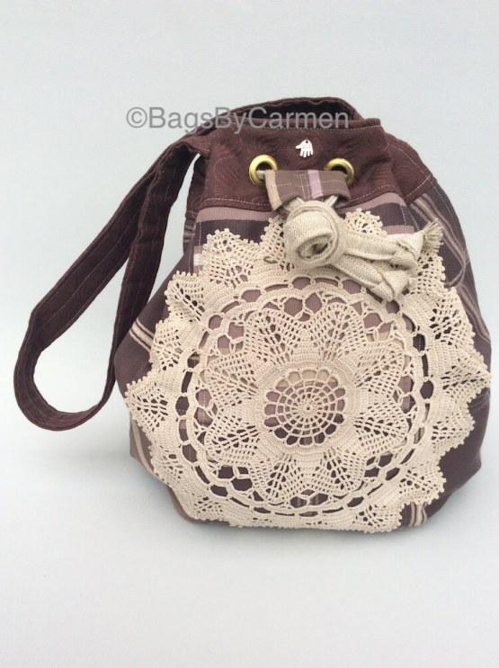 Purple Patchwork Handmade Hobo Bag_Front