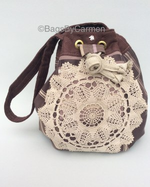 Purple Patchwork Handmade Hobo Bag_Front