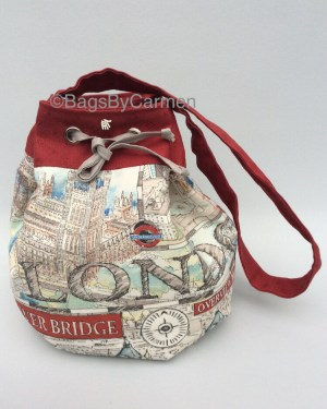 Red London City Bag