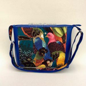 Blue Parrot Shoulder Bag