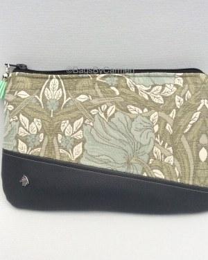 Green Floral Clutch Bag
