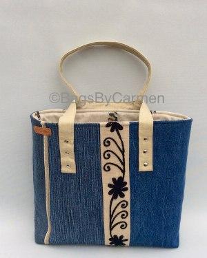 Denim Patchwork Handmade Tote Bag