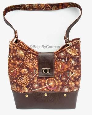 Gold Dandelion Clock Handbag