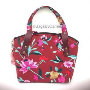 Pink Floral Handbag