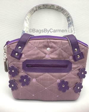 Purple Quilted Handbag