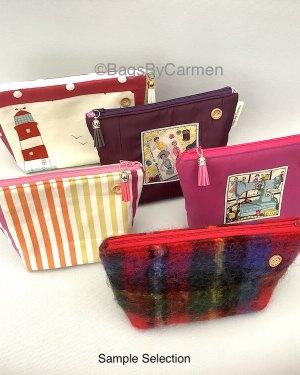 patterned fabric make up bag