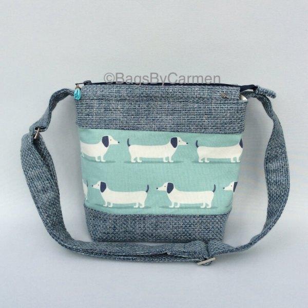 Blue Dog Shoulder Bag