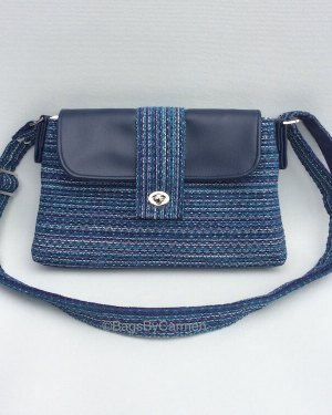 Blue Stripes Shoulder Bag