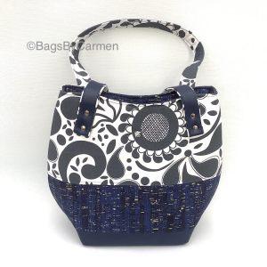 Handbag – Blue and White Pattern