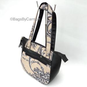 Handbag Grey Floral_Main