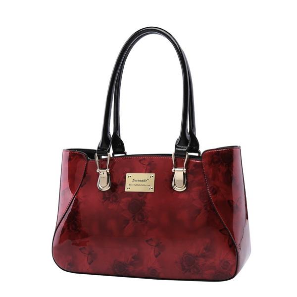 Serenade Cherry Rose Leather Handbag