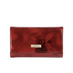 Serenade Cherry Rose Leather Wallet