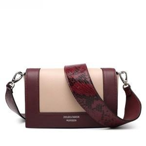 Купить Сумка | клатч женская кожаная бордовая / абрикос змеиная кожа Zooler, Mini Flap fashion фото цена